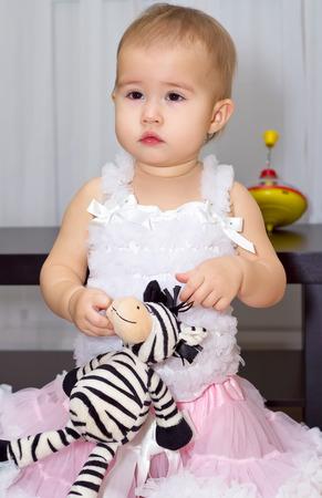 baby girls smiley face: Little girl