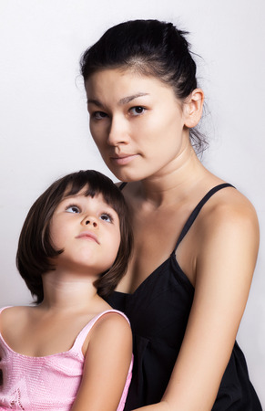 susceptibility: Portrait of daughter and her mother