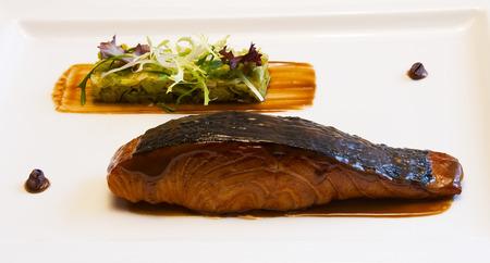 Salmon Steak with Vegetables photo