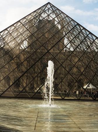 Paris, France, September 22, 2014: The famous Louvre museum in Paris, France