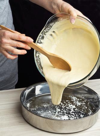 Making sponge cake. Series. photo