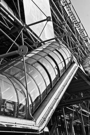 metallic stairs: Centre Georges Pompidou. National Art Modern museum.