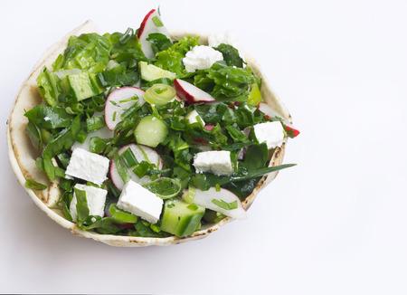 Mediterranean Salad with Feta Cheese.
