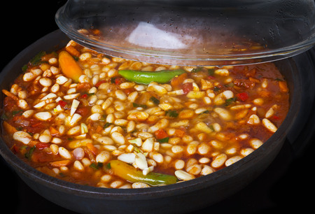 spicey: Chilli cooked in the pan
