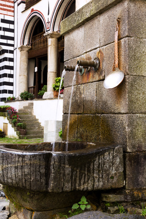 Rila, Bulgaria - Water Fountain in the Unesco World Heritage site Monastery
