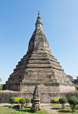 Black Stupa. Thanon Bartholomie. The mythical abode of a seven-headed dragon that protects Vientiane.
