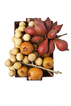 Composition of thai fruit Stock Photo