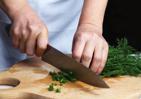 dill: Chopping green dill
