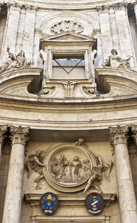 obelisk stone: Great church in center of Rome, Italy. Editorial