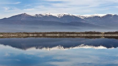 Amazing Panorama to  lake, Pirin Mountain backgroundт in Bansko, Bulgaria