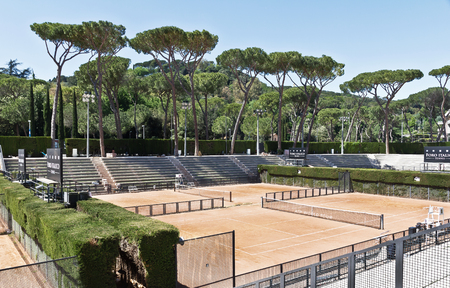 Stadium of the marbles in rome italy tennis court