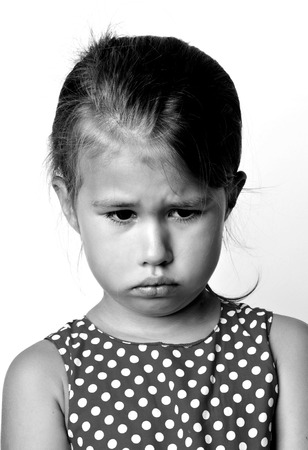 Portrait of emotional little girl Stock Photo