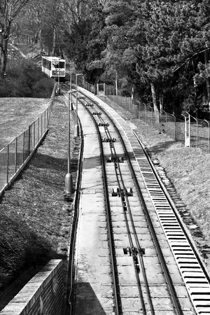 Funicular to petrin hill in Prague. A famous touristic place in Prague.