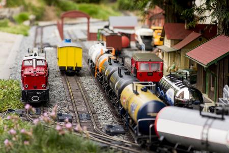 Miniature train railway model set