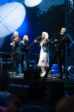 Cechy pod Kosirem, Czech Republic 8th September 2017. Concert of popular Czech folk band CECHOMOR. Czechomor Czech music band playing traditional songs in rock arrangements.