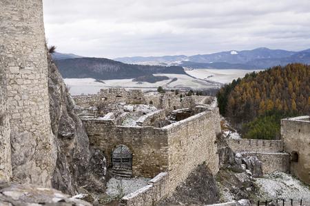 Ruin of Spis castle, Spissky hrad. Slovakia Europe Reklamní fotografie