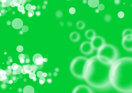 blots: green abstract background with stains, bubbles and blots Stock Photo