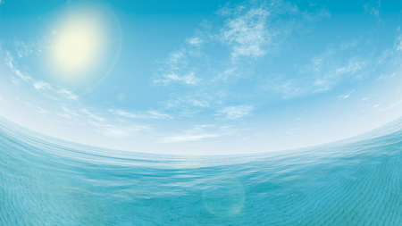 inclination: panoramic view of sea and sky Stock Photo