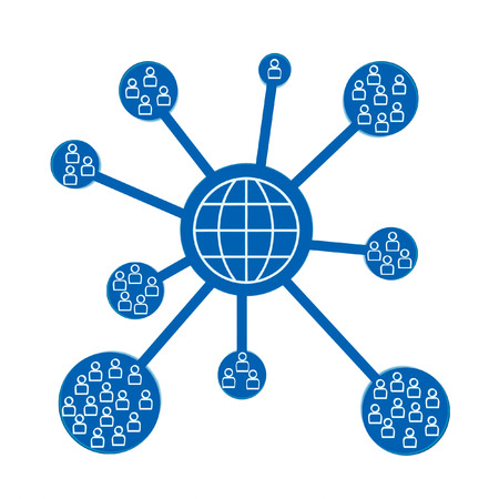 available time: World network icon isolated on a white background. Stock Photo