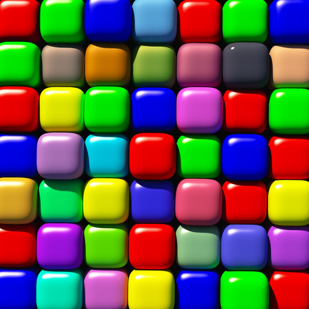 rounded edges: Background from cubes of different tone with the rounded edges.