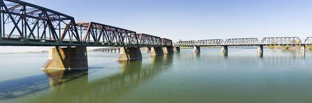 Victoria bridge in Montreal city Quebec Canada Stock fotó