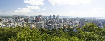 Cityscape of Montreal city in Quebec Canada