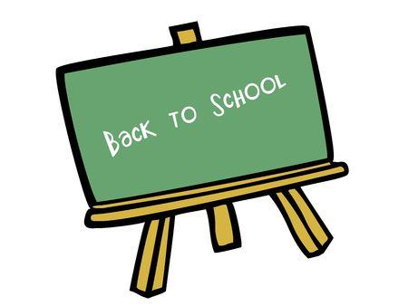 vector gebaseerde illustratie van een groen schoolbord