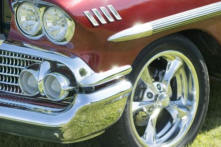 close-up view of the front of an old car Stock fotó