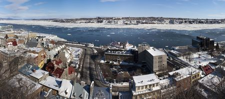 Panoramic view of Quebec City in Canada Stock fotó