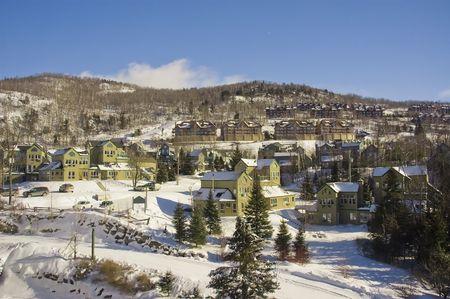 Mont Tremblant ski village in Quebec Canada photo