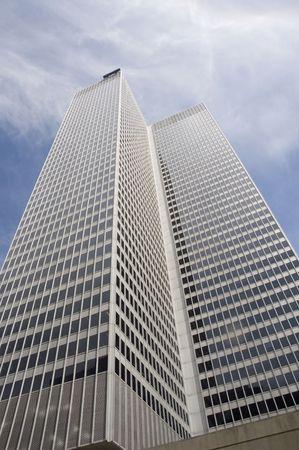 Close up view of a modern skyscraper