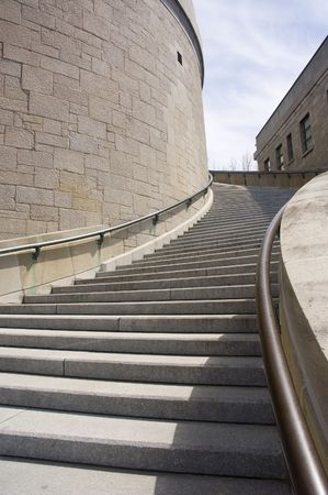 oratory: Stairs of the St-Joseph Oratory in Montreal city