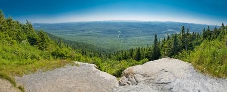 Panoramic view of the park Mont-Megantic in Quebec Canada photo