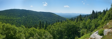 Panoramic view of the park Mont-Megantic in Quebec Canada