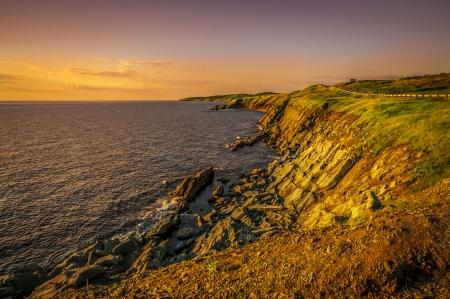 Rocky cliffs of the Cabot Trail Nova Scotia Canada