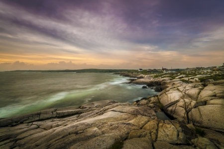 Rocky coast of Peggy