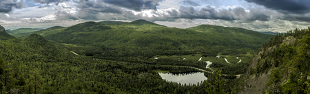 Panoramic view of the park Charlevoix Quebec Canada Stock fotó