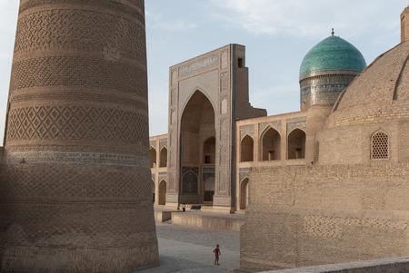 Bukhara. Uzbekistan. Central Asia. Poi-Kalyan. Kalyan minaret. Miri-Arab madrassa.