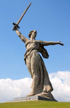 Escultura en Mamaev Kurgan  Foto de archivo - 6461629