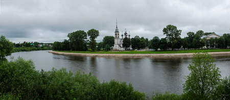 Vologda panorama view from the Kremlin from the high Bank Фото со стока
