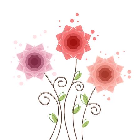 Summer flower background Camellia Illustration