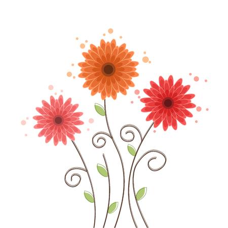 Summer flower background Gerbera