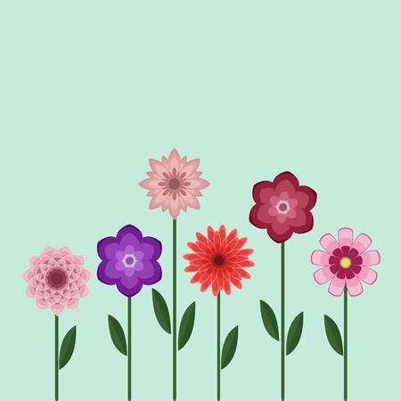 Flower Set Background Illustration