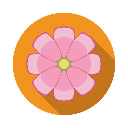Cosmos Flower Flat Icon. Vector Icon