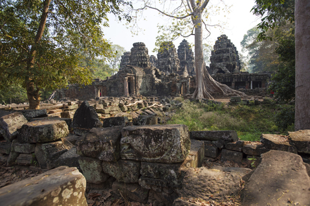 Ruins of the temple in the jungle