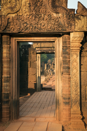 Entrance door to the jungle temple