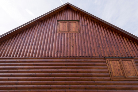 the front shield of the rooftop cottage roof in the Moravian Highlands