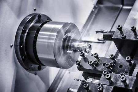 metal gear turning, CNC milling machine close-up