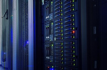 mainframe: modern mainframe disk storage in  data center