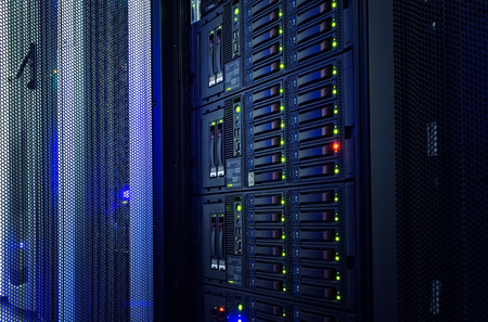 modern mainframe disk storage in  data center